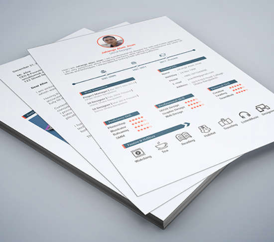 30 Free Professional Resume Templates for Designers - XDesigns - 3 page resume
