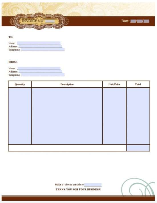 25 Free Invoice Templates for MS Word - XDesigns - word invoice template free