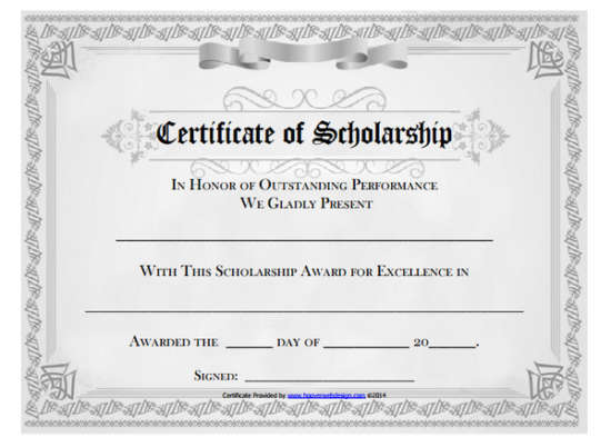 college certificate templates
