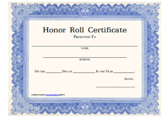 100+ Huge Collection of Free Certificate Templates - XDesigns - free printable honor roll certificates
