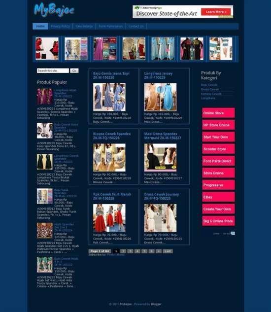30+ Free Best Ecommerce Blogger Templates - XDesigns