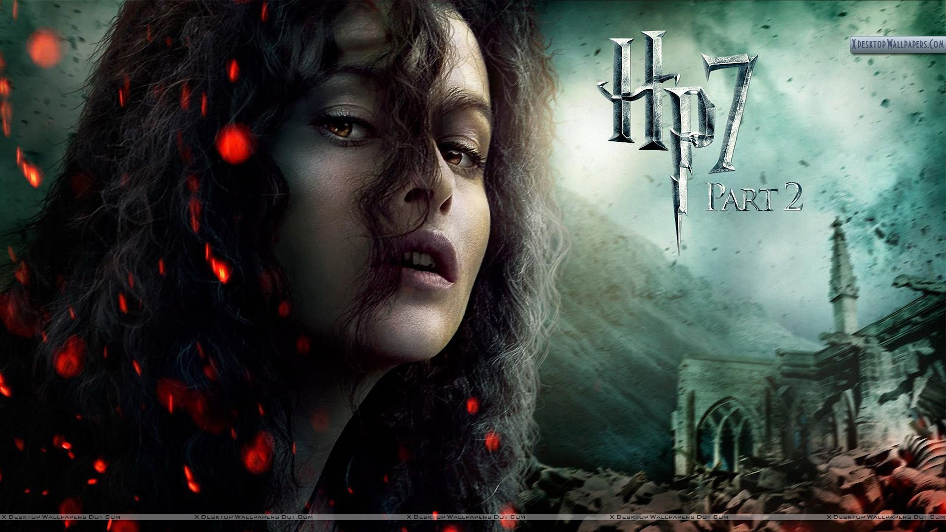 Wallpapers Harry Potter Helena Bonham Carter Face Closeups In Harry Potter And The Deathly
