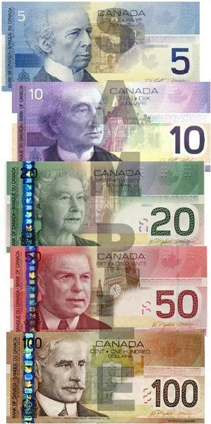 canadian money template