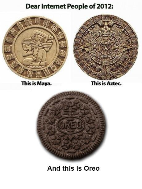 Aztec Calendar Vs Oreo Cookie According To The Mayan How To Tell Three Round Objects Apart The Xenohistorian