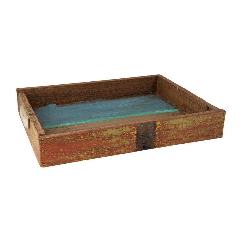 Recycle Hout Recycle Tray Colours - 57x41 Cm | Xenos