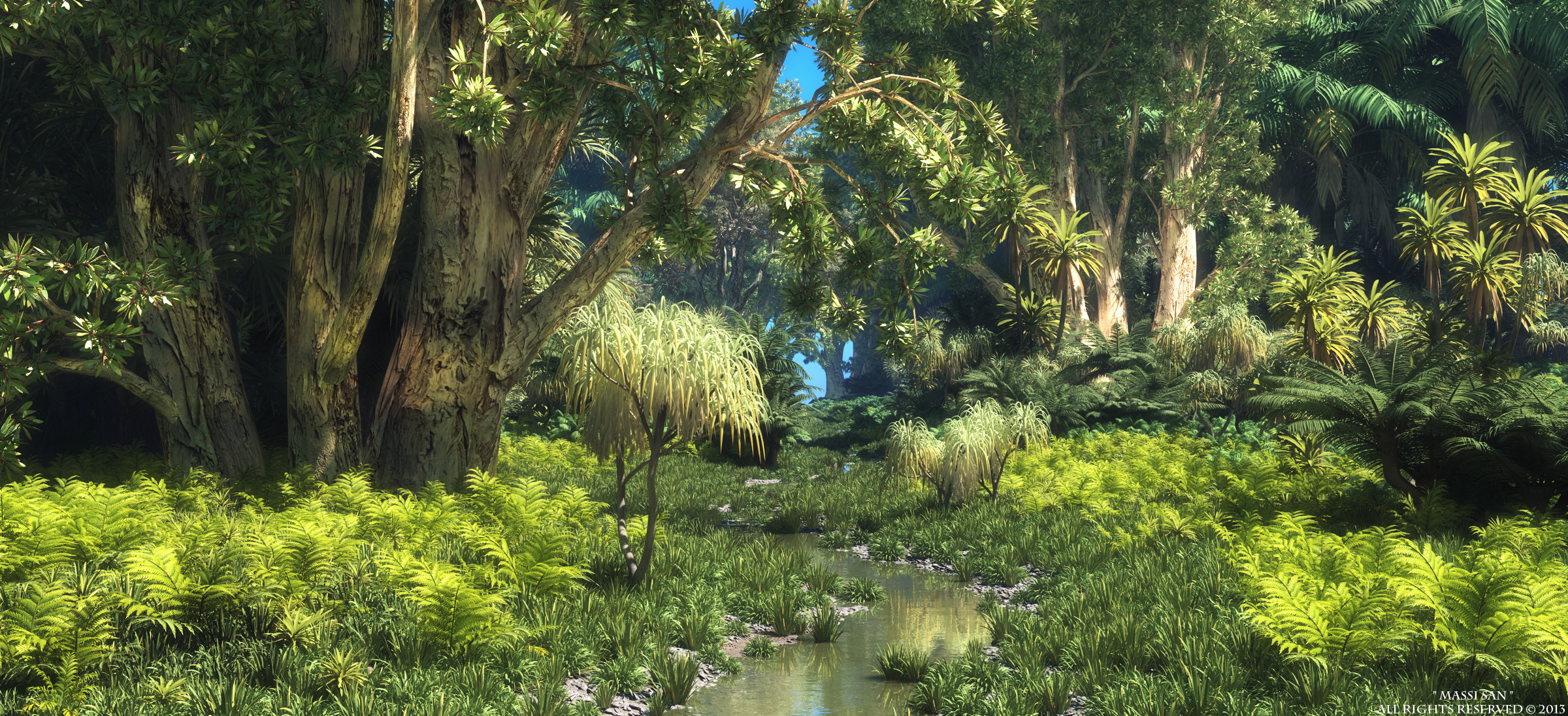 Forest Animated Wallpaper Xfrog Tropical Scenes Jungle Stream 2