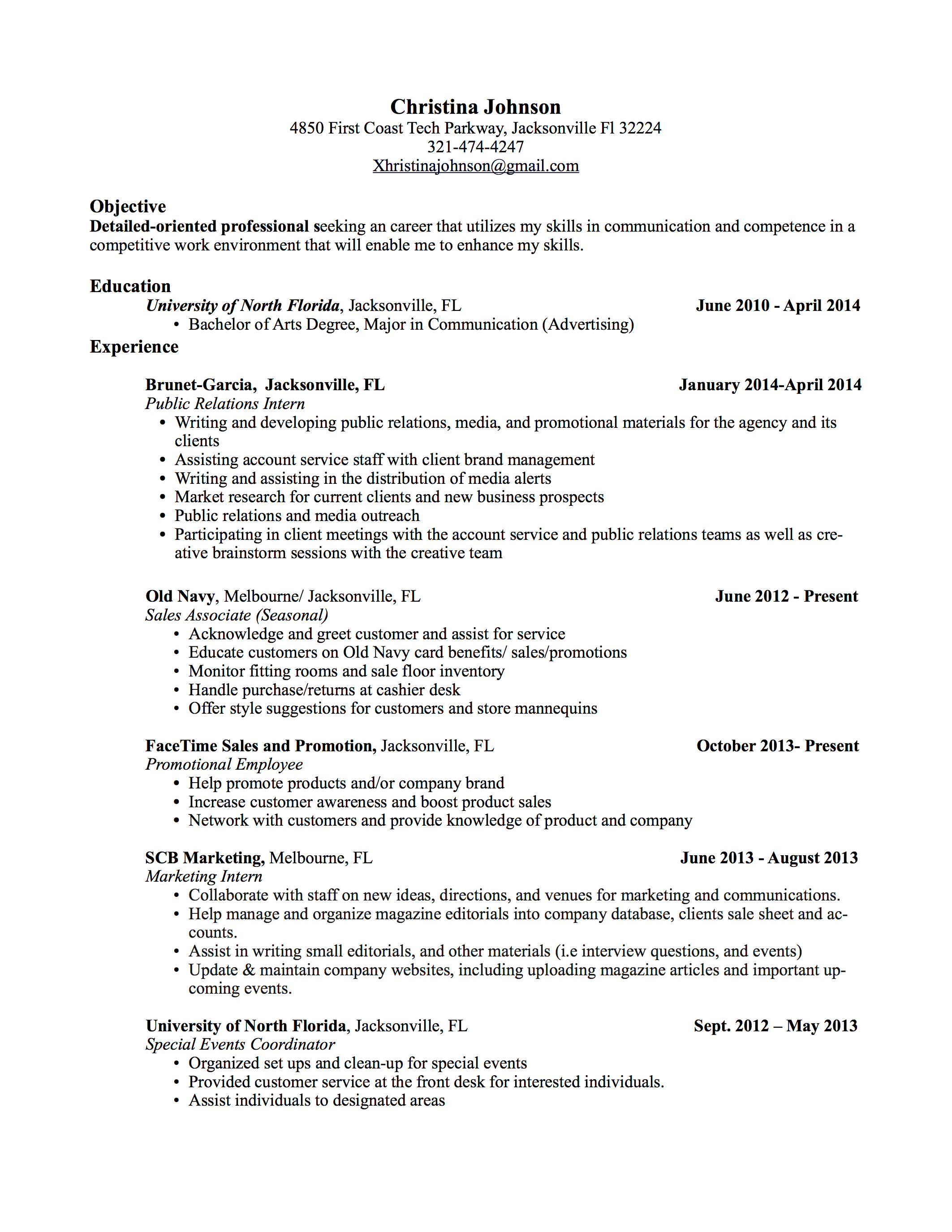 internship resume it resume writing resume examples cover letters internship resume it internship resume examples internships resume christina johnson