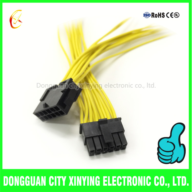 12 pin 30mm molex connector male to female wire harness