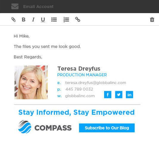 Best Professional Email Signature Examples - Be Inspired by Xink