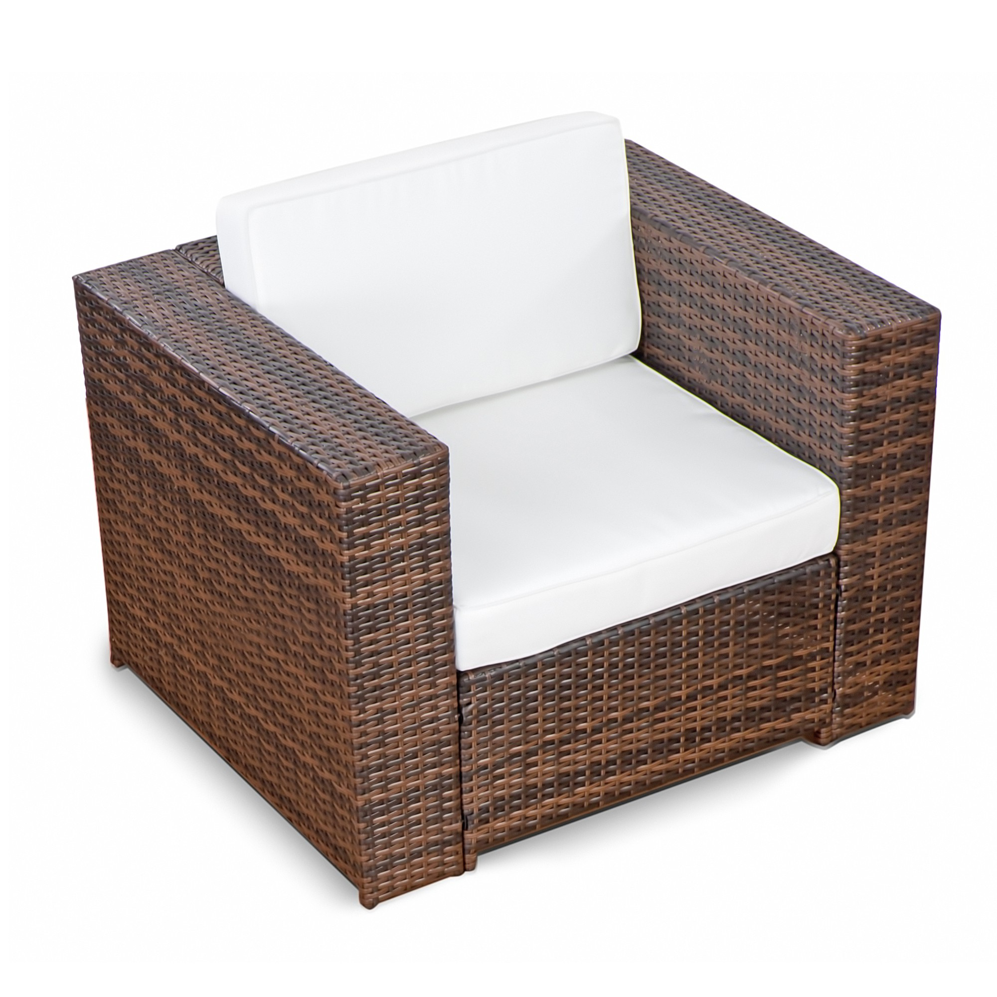 Lounge Sessel Outdoor 3 Tlg Loungesessel Polyrattan Xl 1er Braun