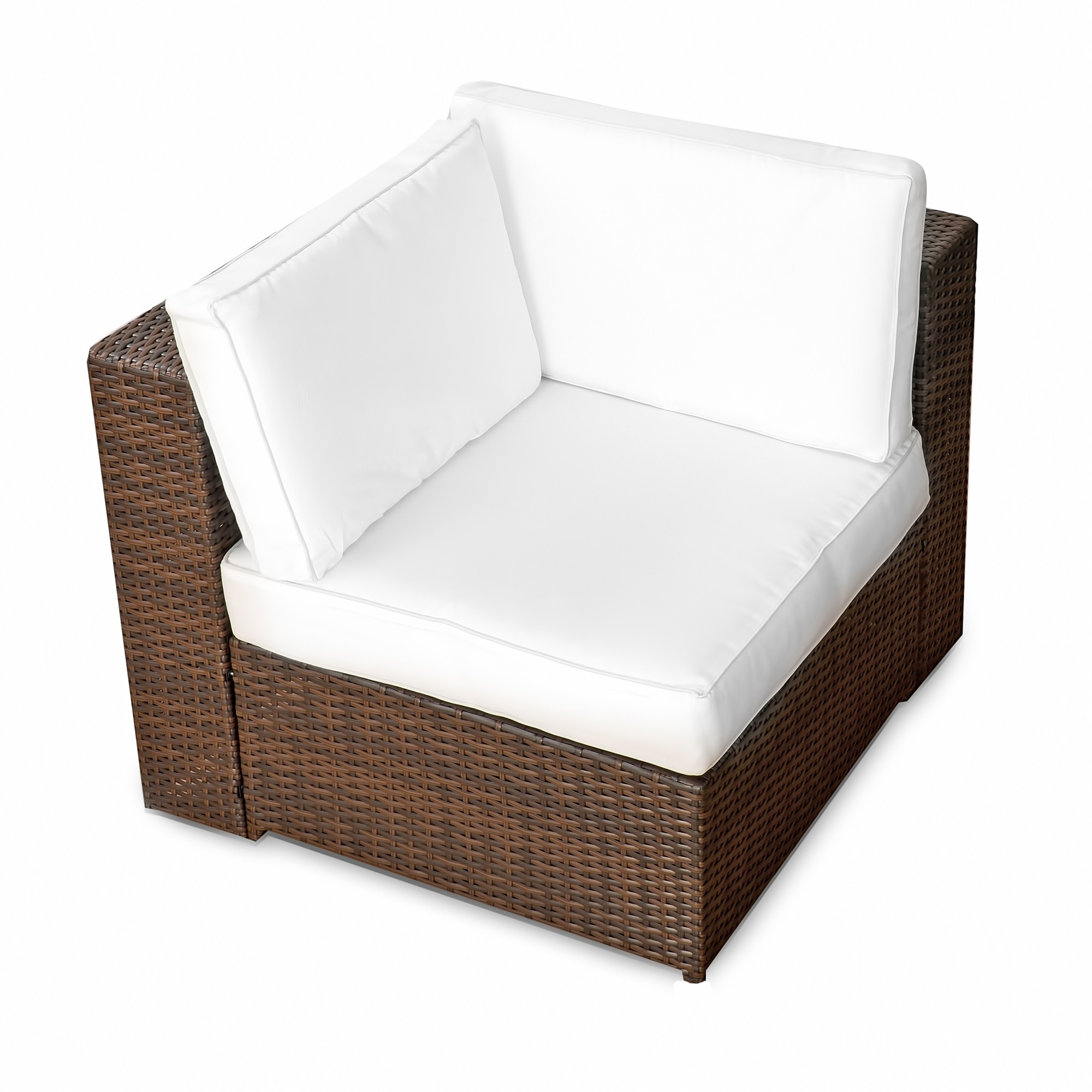 Lounge Sessel Outdoor 4 Tlg Rattan Lounge Sessel Xl 1er Braun