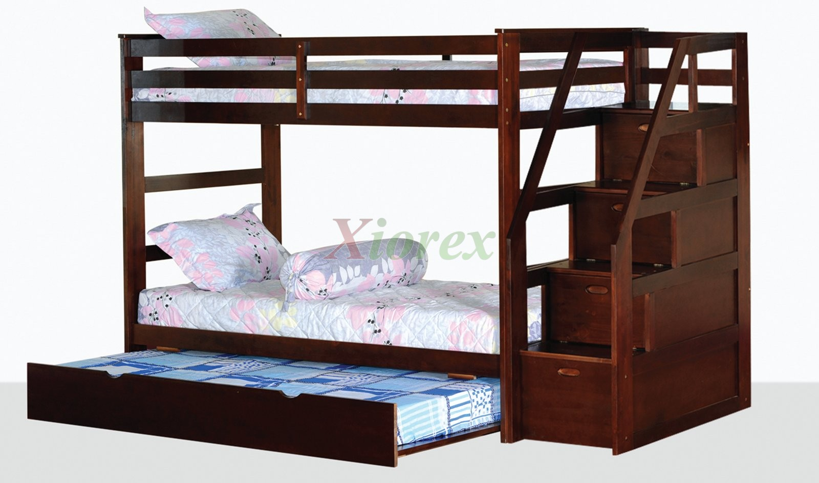 Storage Beds Edmonton Alcor Twin Over Twin Bunk Bed With Storage Stairs And Trundle Xiorex