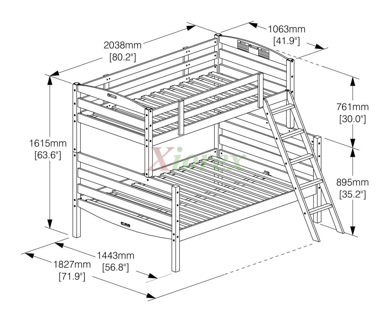 Bunk Bed Dimensions Twin Twin Bunk Bed And Twin Full Bunk Bed Night And Day