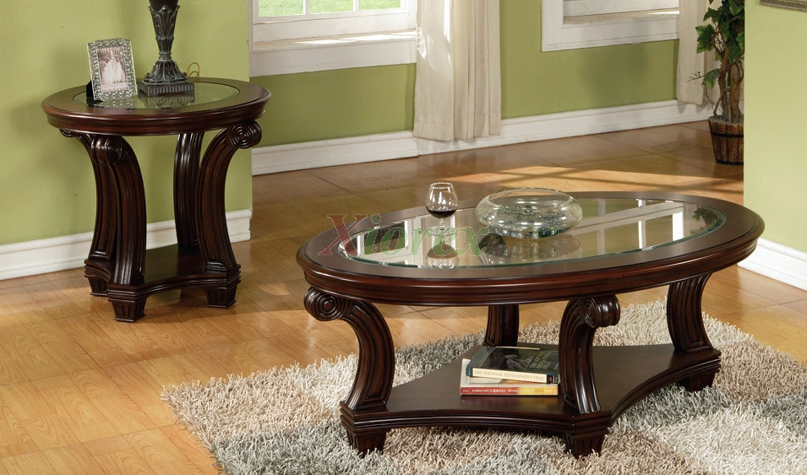 Round Glass Top Coffee Table Perseus Glass Top Wooden Coffee Table Set Montreal Xiorex