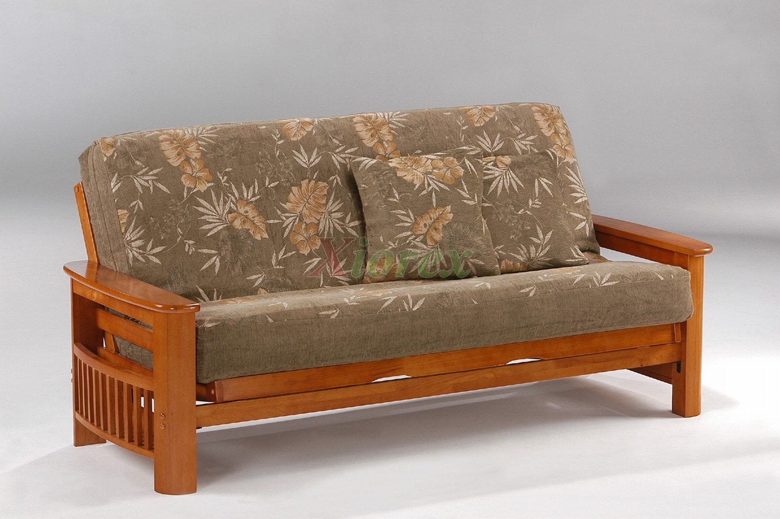 Ottoman Couch Night And Day Portofino Futon Sofabed Honey Oak Natural