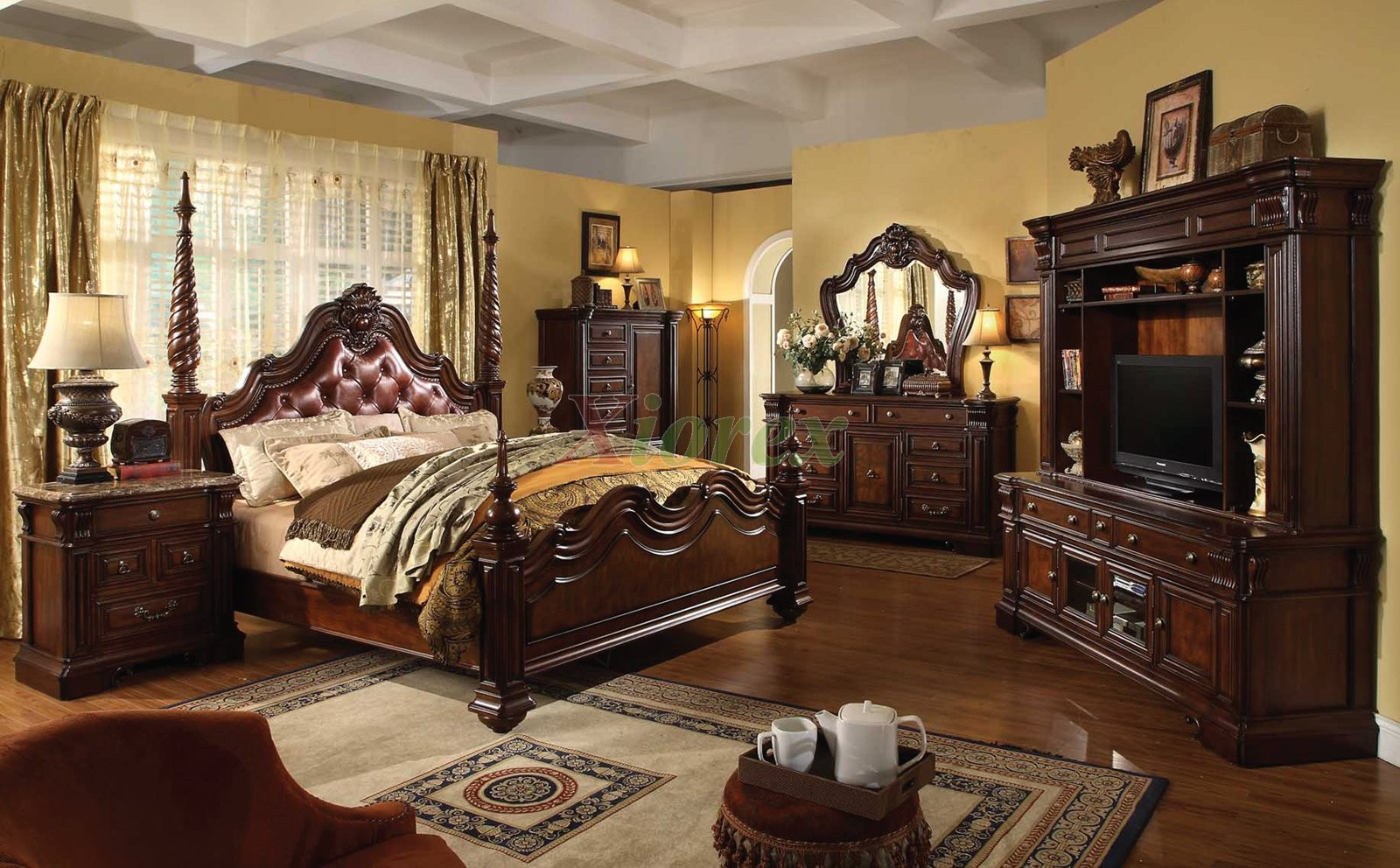 Masters Kitchens Prices Traditional Poster Bedroom Furniture Set With Leather