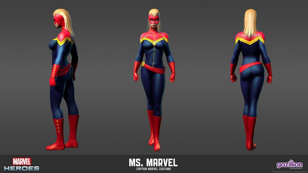 Spider Man 3d Live Wallpaper Ms Marvel Marvel Heroes Complete Costume List