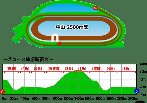 中山競馬場,芝2500m