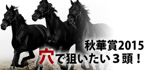 秋華賞2015穴で狙いたい3頭!