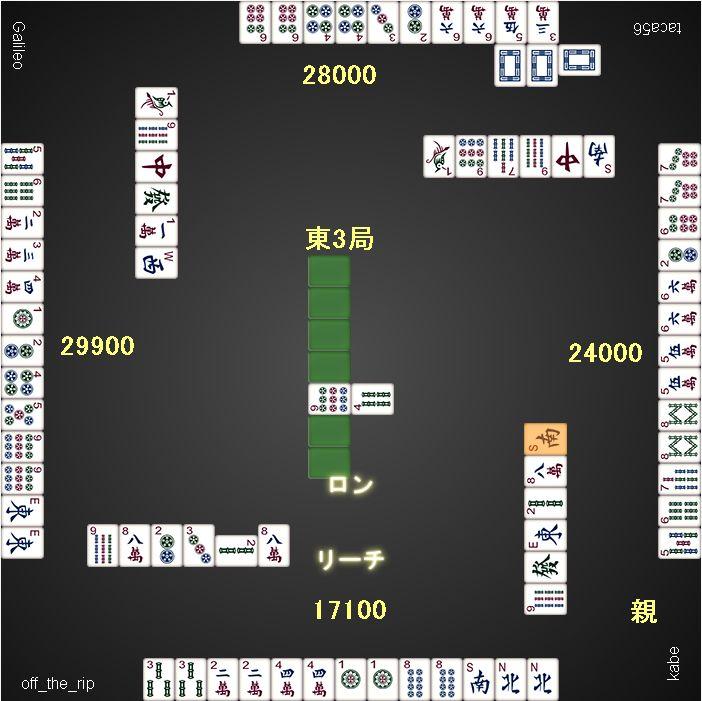 優勝者総取りトーナメント0513_1ゲーム目_東3局