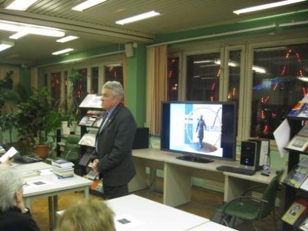 Выступление одного из читателей библиотеки, пришедшего на вечер