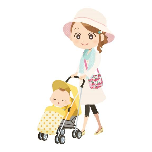 赤ちゃん 夏 散歩
