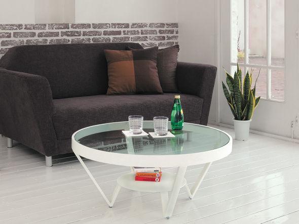 ガラス天板円形ガラステーブル