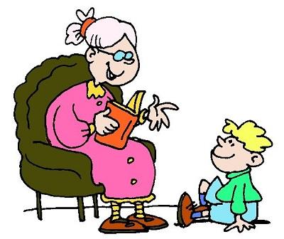 Abuela cuentando cuentos