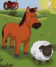 caballo y oveja