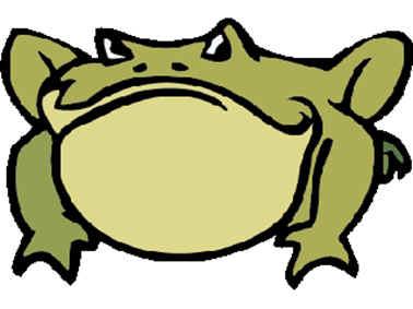 rana muerta en el charco