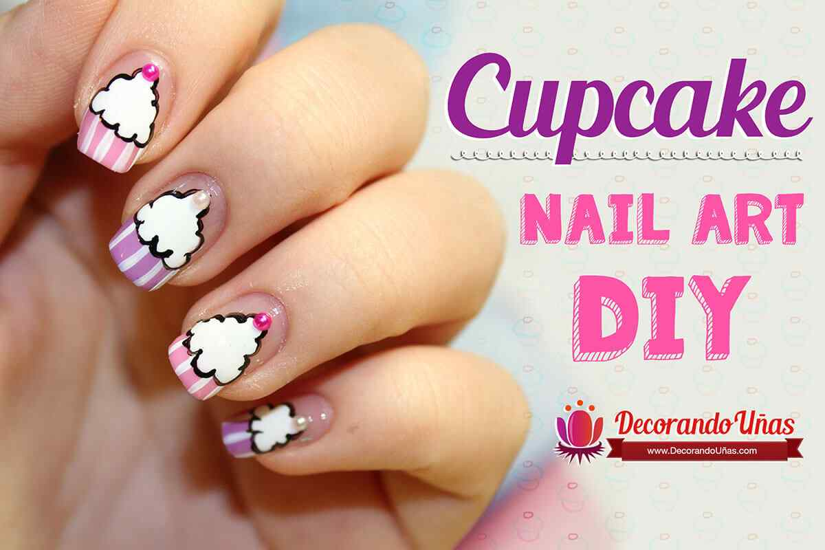 Uñas De Gel Decoradas Paso A Paso Uñas Decoradas Con Cupcakes Nail Art Diy Video