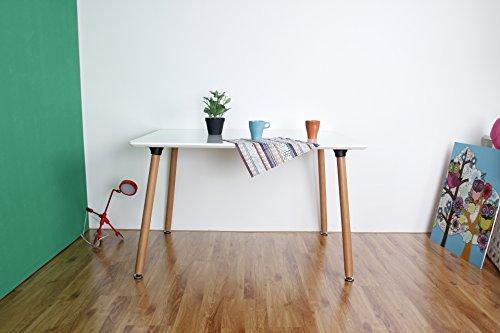 Esstisch Retro Design ~ Home RetroDesign, quadratisch, aus Holz, mit weißem Holz Esstisch mit 4 Stüh