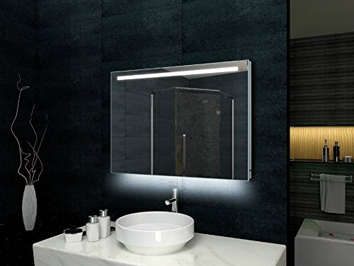 Led Leiste Bad Lux-aqua Design Badezimmerspiegel Alu-rahmen Led