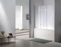 Glas-Duschabtrennung-SEATTLE-Badewanne-Faltwand-Duschwand ...