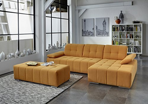 Wohnzimmer Orange Couch Dreams4home Polstergarnitur 'retro Ii', Ecksofa, Sofa