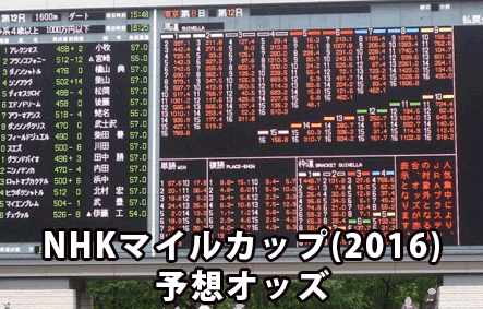 NHKマイルカップ,オッズ予想