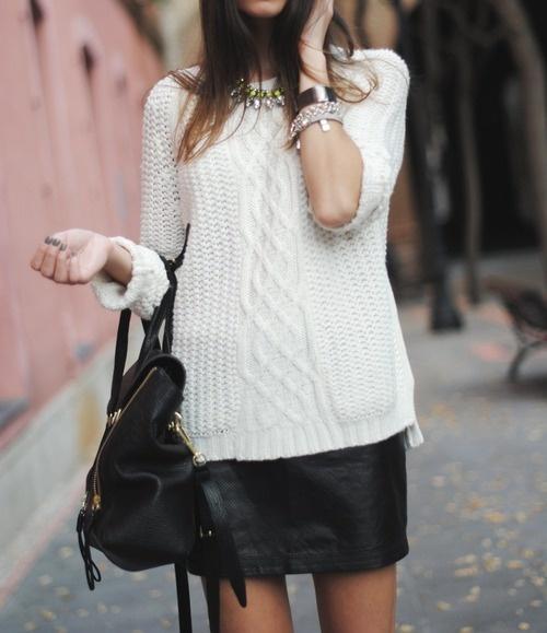 レザースカート1