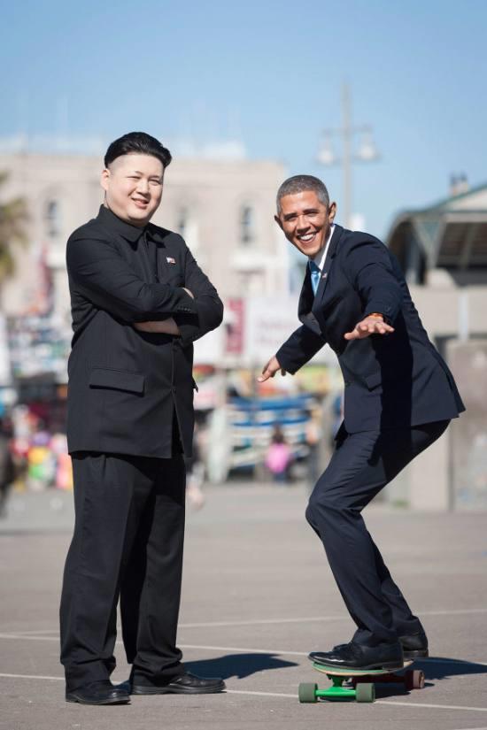 オバマさんと金正恩さんのツーショット3