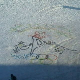 雪かきアート1