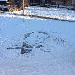 雪かきアート4