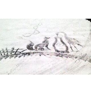 雪かきアート7