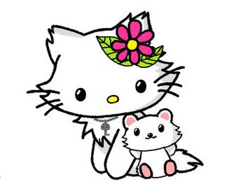 私の目がおかしいのか、ペットよりもキティちゃんの方が猫に近い感じが・・・。