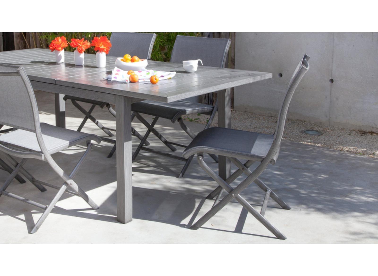 Salon De Jardin Oceo | Grande Table De Jardin Rectangle Fiero Proloisirs