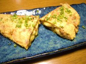 納豆チーズオムレツ