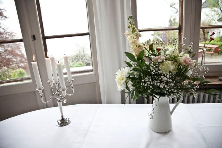 blomster bryllup bordbuketter