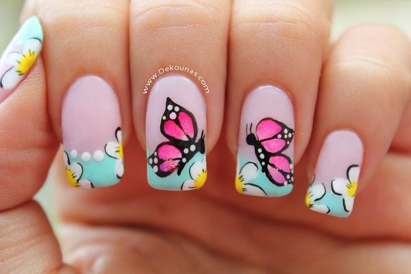 Maravillosas u as decoradas con mariposas for Decoracion de u 0s9as paso a paso