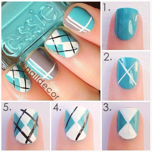 Geniales diseños de uñas faciles paso a paso