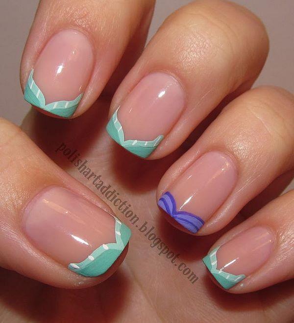 decoracion de uñas de la sirenita