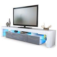 TV Board Lowboard Lima V2 in Wei / Grau Hochglanz gnstig ...