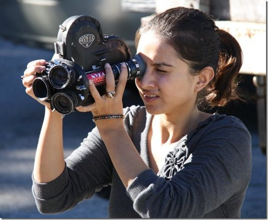 Nisha-filming